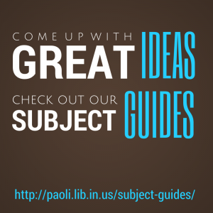 Check out our subject guides for information on 50 topics!