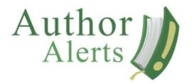 Try Author Alerts!
